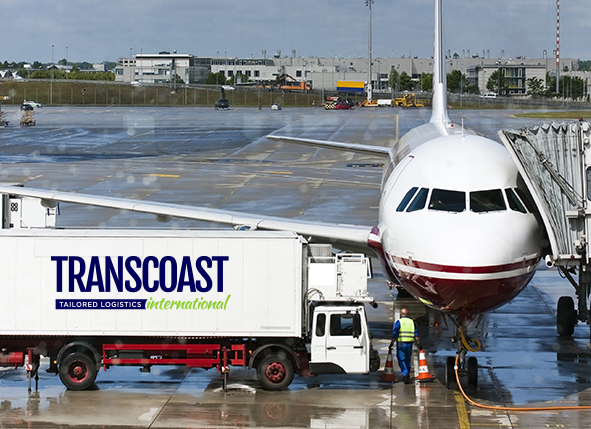 Image of freight cargo being loaded onto aeroplane